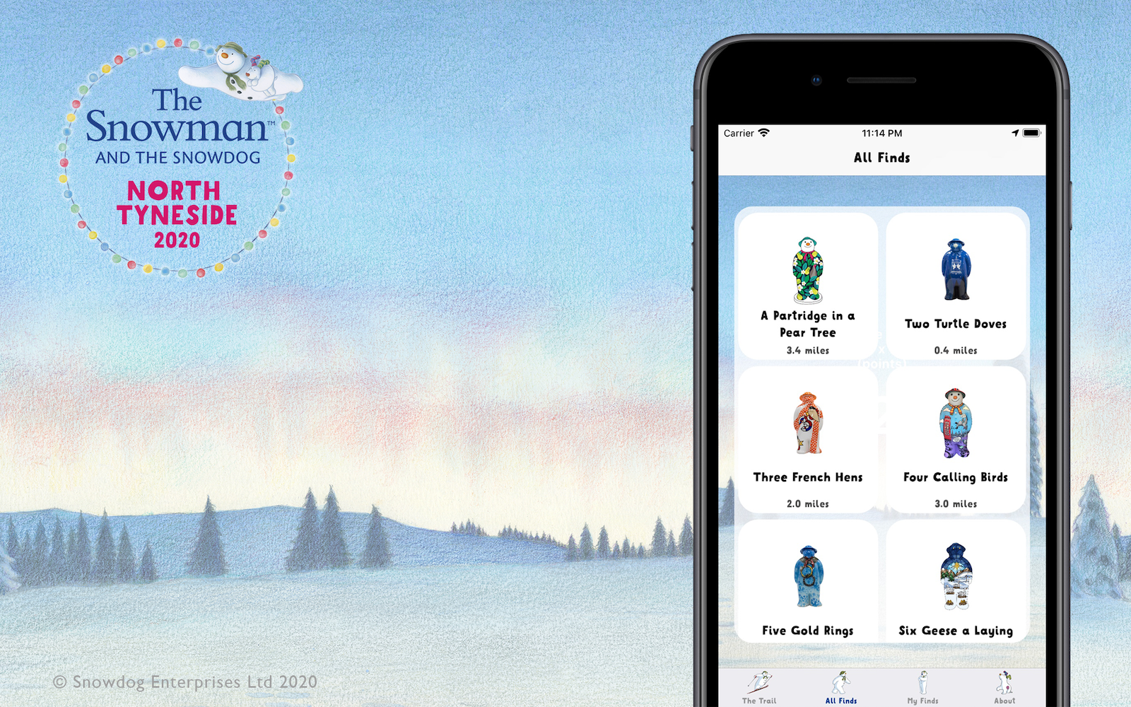 The Snowman™ & The Snowdog Trail App's picture